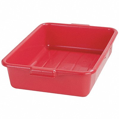 20 x 15 x 5 Durable Resin Tote Box Red