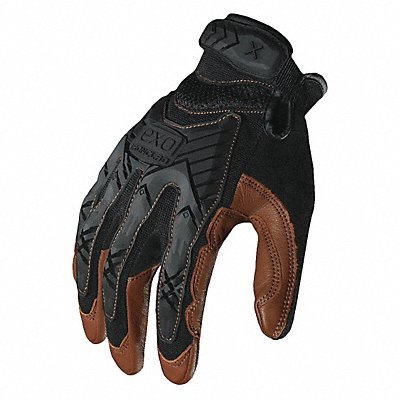 Impact Resistant Gloves Goatskin Palm Material Black Brown 1 PR