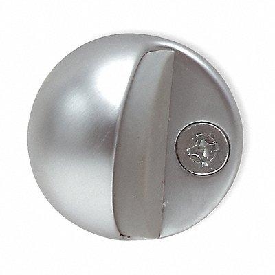 Floor Door Stop Satin Chrome 1 In