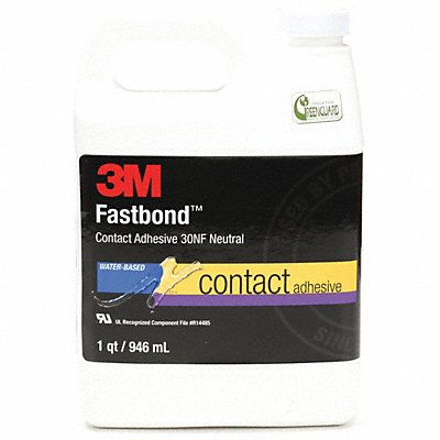 1 qt. Nonflammable Water Based Contact Adhesive Neutral