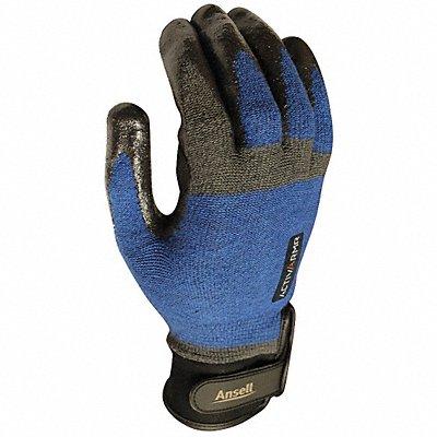 Nitrile Cut Resistant Gloves ANSI/ISEA Cut Level 4 Kevlar? Spandex? Lining Black Blue L PR 1