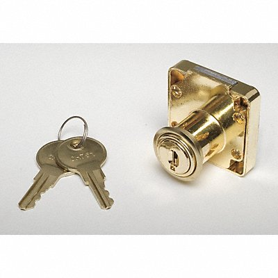 Keyed Alike Drawer Dead Bolt For Door Thickness (In.) 7/8 Brass