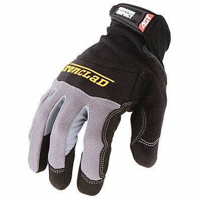 Anti-Vibration Gloves Microsuede Palm Material Black 1 PR