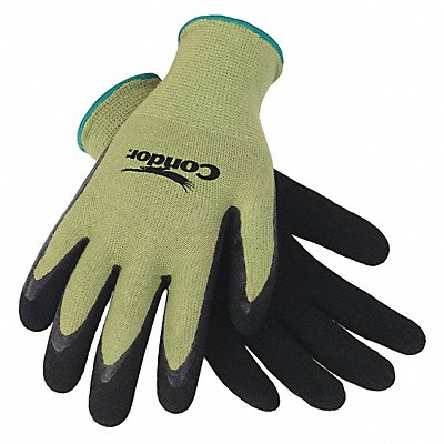 13 Gauge Foam Natural Rubber Latex Coated Gloves Glove Size XL Green/Black