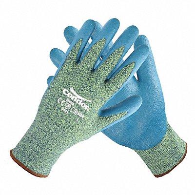 Nitrile Cut Resistant Gloves ANSI/ISEA Cut Level 4 Kevlar? Spandex? Lining Blue Yellow XL PR