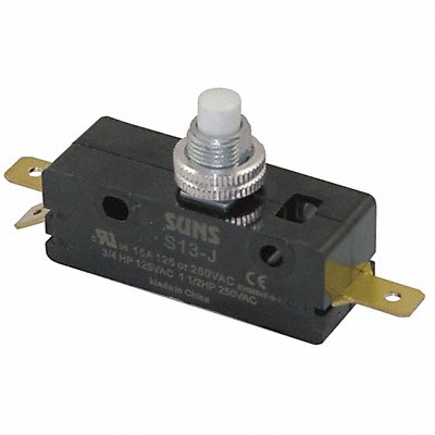 15A @ 240V Panel Mount Plunger Industrial Snap Action Switch Series S