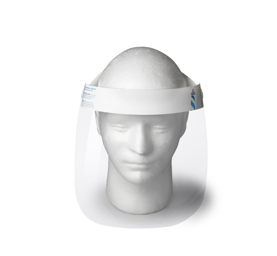 Hatteras Adult Face Shield, ANTI-FOG, MADE IN USA, Berry Compliant