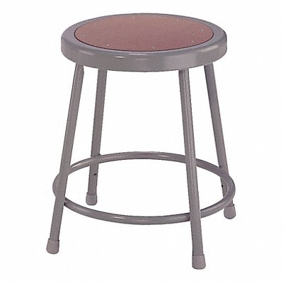 Round Stool with 18 Seat Height Range and 300 lb Weight Capacity Gray