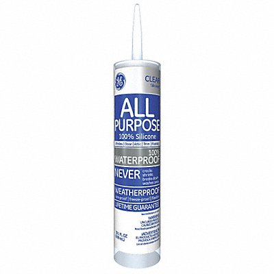 Clear Window and Door Sealant Silicone 10.1 oz Cartridge