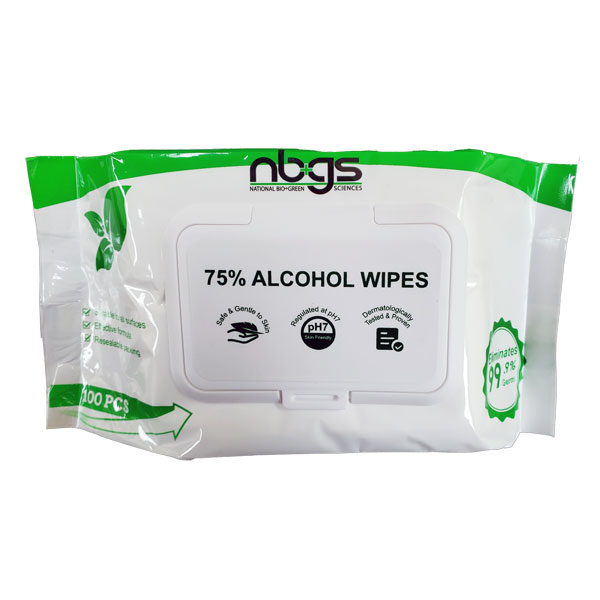 Alcohol Wipes 75% (100 wipes per pack) (Available in Pack of 1 or 24)