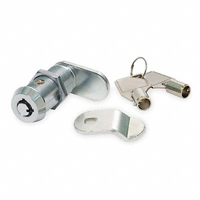 Alike-Keyed Standard Keyed Cam Lock Key # T0001 For Door Thickness (In.) 5/8 Chrome