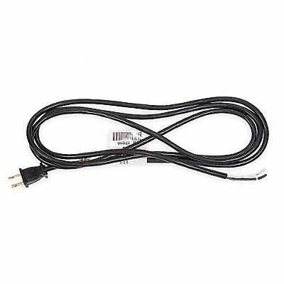 8 ft Power Cord with SJT NEC Cord Designation 18/2 Gauge/Conductor and 10 Max Amps