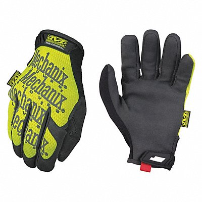 General Utility High Visibility Mechanics Gloves Synthetic Leather Palm Material High Visibility Y