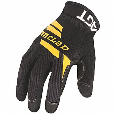 General Utility Gloves Synthetic Leather Palm Material Black 2XL PR 1