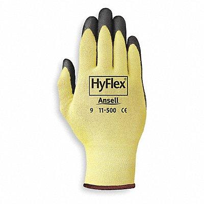 Nitrile Cut Resistant Gloves ANSI/ISEA Cut Level 2 Kevlar? Lining Black Yellow L PR 1