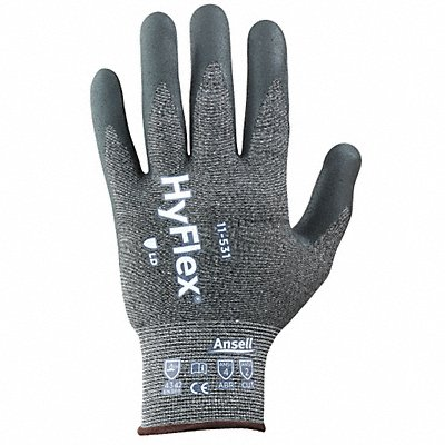 Nitrile Cut Resistant Gloves ANSI/ISEA Cut Level 2 HPPE Spandex? Lining Black Gray 10 PR 1