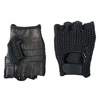 Anti-Vibration Gloves Leather Palm Material Black 1 PR