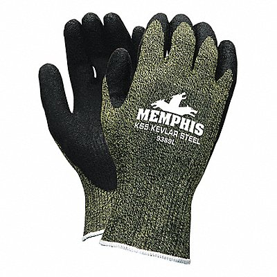 Natural Rubber Latex Cut Resistant Gloves ANSI/ISEA Cut Level A4 Lining Black Green XL PR 1