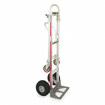 Convertible Hand Truck 1000 lb./500 lb Horixontal/Vertical Load Cap. Continuous Frame Flow-Back