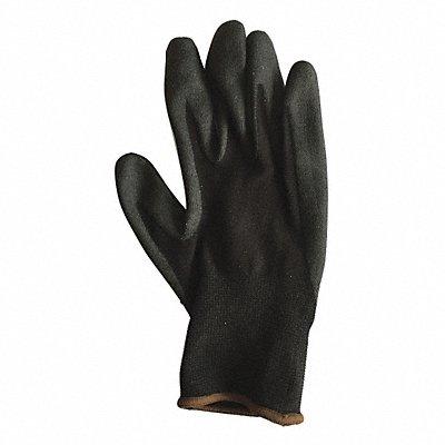 15 Gauge Foam PVC Coated Gloves Glove Size M Black/Black
