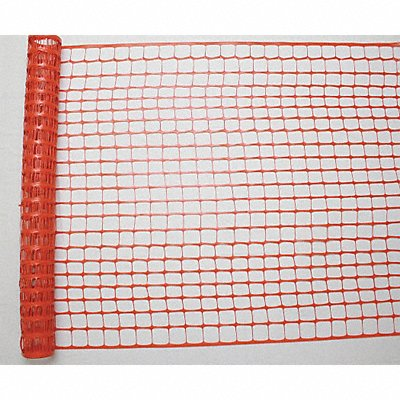 Safety Fence 2 x 2-3/8 Mesh Size 4 ft Height 100 ft Length