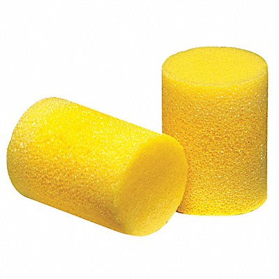 33dB Disposable Cylinder-Shape Earplugs Uncorded Yellow L
