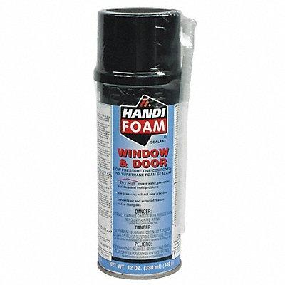 Window and Door Insulating Spray Foam Sealant 12 oz Aerosol Can Cream