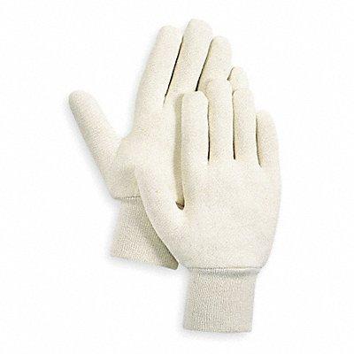 Jersey Gloves Cotton Material Knit Wrist Cuff White Glove Size S