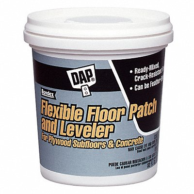 Flexible Floor Patch and Leveler 1 gal Size Light Gray Color Container Type Pail