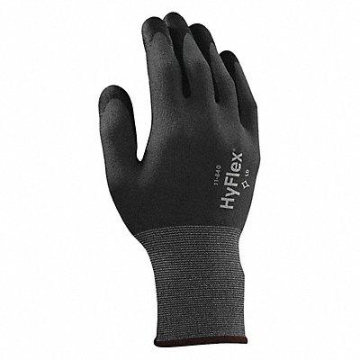15 Gauge Rough Nitrile Coated Gloves Glove Size 10 Black/Gray