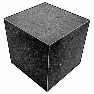 Foam Cube 8 sq. in Open Cell Polyether Charcoal Smooth Cellular