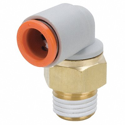 3/8 Plastic Union Elbow 90¬ White/Gray