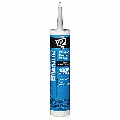 Aluminum Gray Rubber Sealant Silicone 9.8 oz Cartridge