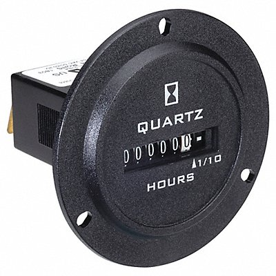Hour Meter 120 to 240VAC Operating Voltage Number of Digits 6 Round Bezel Face Shape