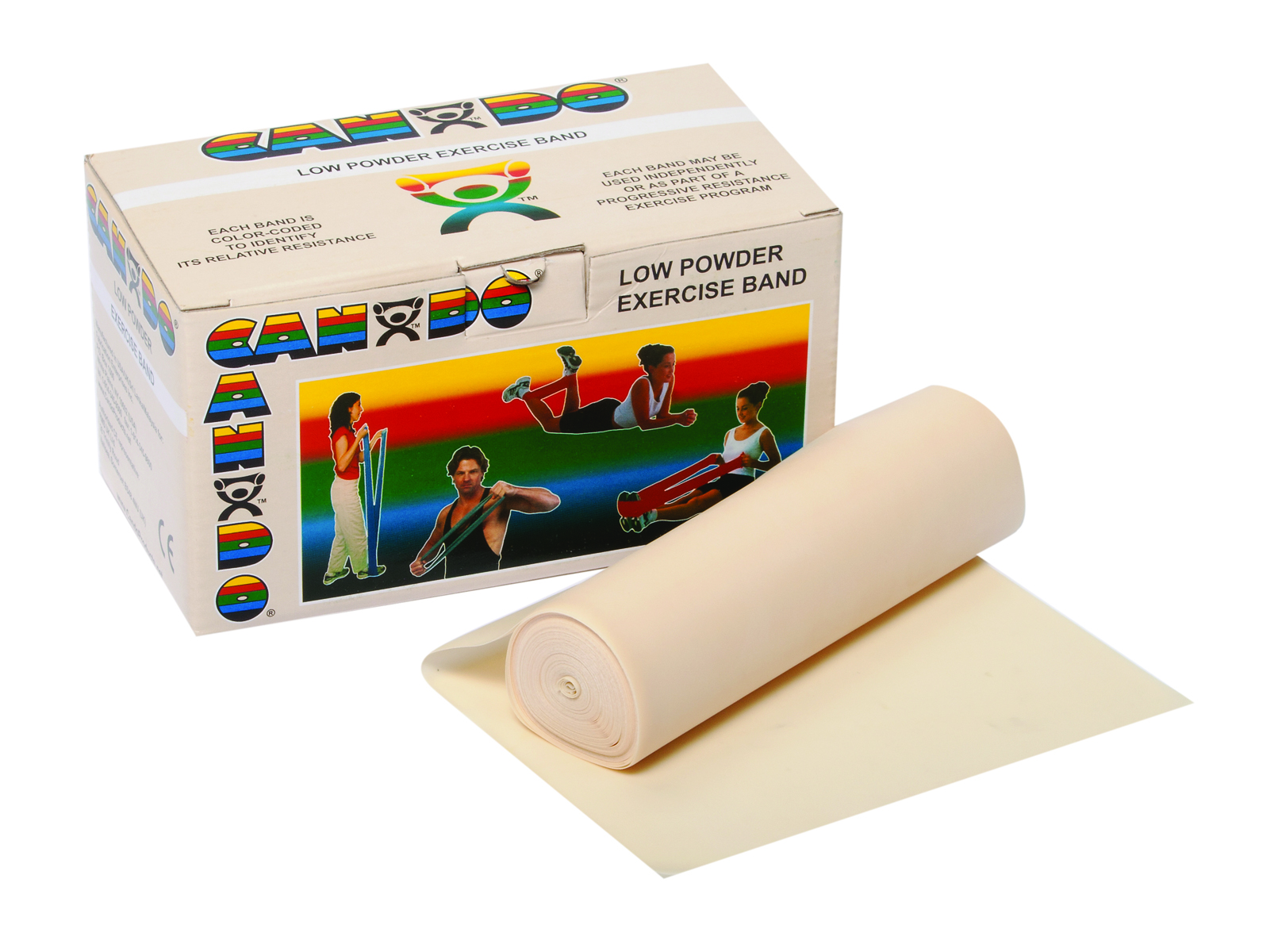 CanDo Low Powder Exercise Band Rolls