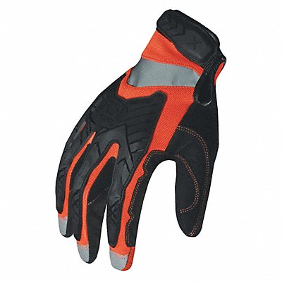 High Visibility Mechanics Glove Embossed Synthetic Leather Foam Padding Duraclad Palm Material H