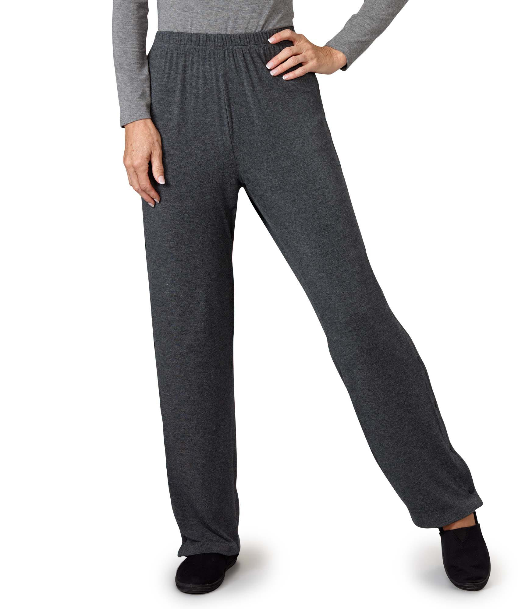 Womens and Mens Post-Surgical Tearaway Pants With Snaps