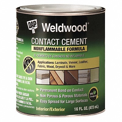 1 qt. Non Flammable Contact Cement Natural