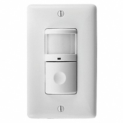 Wall Switch Box Hard Wired Occupancy Sensor 1200 sq. ft Passive Infrared White