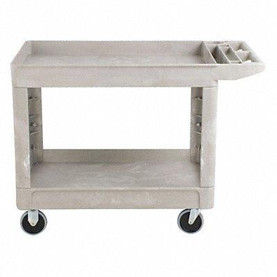 Polypropylene Flat Handle Utility Cart 500 lb Load Capacity Number of Shelves 2