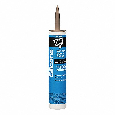 Bronze Rubber Sealant Silicone 9.8 oz Cartridge