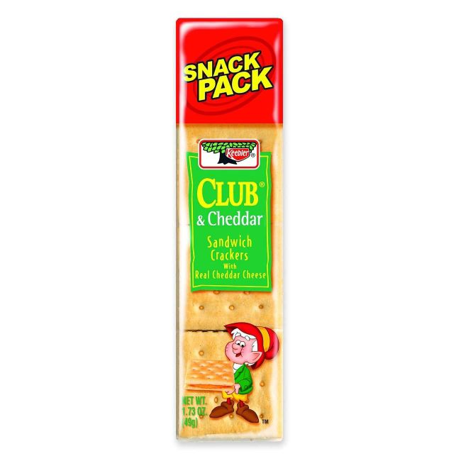 Keebler Club & Cheddar Sandwich Crackers, 1.8 Oz, Box Of 12