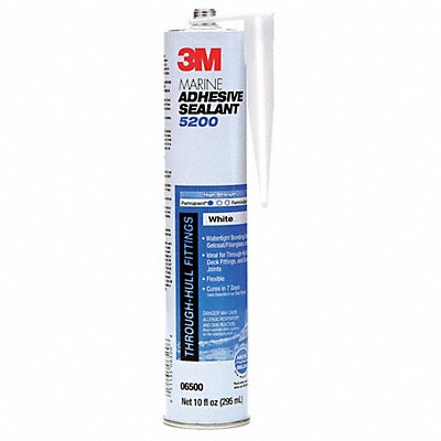 White Marine Adhesive Sealant Polyurethane 10.0 oz Cartridge