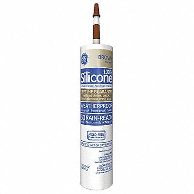 Brown Window and Door Sealant Silicone 10.1 oz Cartridge