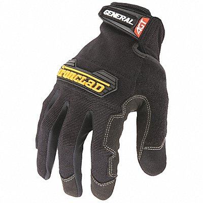 Construction Mechanics Gloves Synthetic Leather Palm Material Black 2XL PR 1