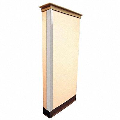 Corner Guard PVC Plastic 48 Height 1-1/2 Width 0.085 Thickness White