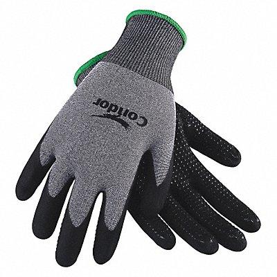 15 Gauge Dotted Nitrile Coated Gloves Glove Size L Gray/Black