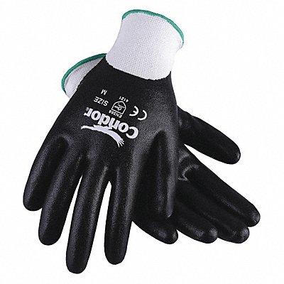 13 Gauge Smooth Nitrile Coated Gloves Glove Size XL White/Black