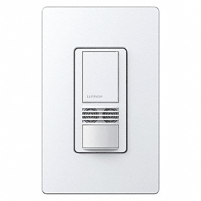 Wall Switch Box Hard Wired Occupancy Sensor 900 sq. ft Passive Infrared Ultrasonic White