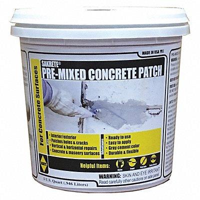 Gray Pre-Mixed Concrete Patch 1 qt. Pail Coverage 3 sq. ft @ 1/8